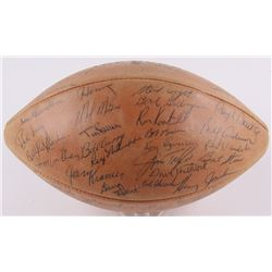 "1960's Packers ""The Duke"" NFL Football Team-Signed by (55) with Vince Lombardi, Bart Starr, Paul Hor"