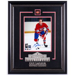 Guy Lafleur Signed Canadiens 17.25x21.25 Custom Framed Photo Display (Frameworth COA)