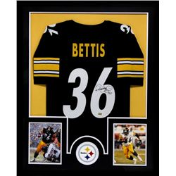 Jerome Bettis Signed Steelers 34x42 Custom Framed Jersey (Radtke COA)