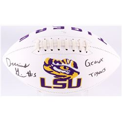 "Derrius Guice Signed LSU Tigers Logo Football Inscribed ""Geaux Tigers"" (JSA COA)"