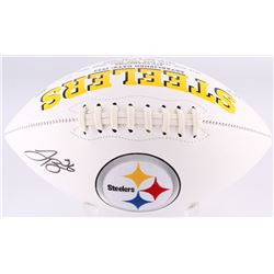 LeVeon Bell Signed Steelers Logo Football (JSA COA)