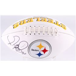 Jerome Bettis Signed Steelers Logo Football (JSA COA)