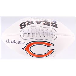 Dick Butkus Signed Bears Logo Football (JSA COA)