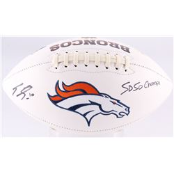 "Emmanuel Sanders Signed Broncos Logo Football Inscribed ""SB 50 Champs"" (JSA COA)"
