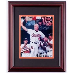 Cal Ripken Jr. Orioles 13.5x16.5 Custom Framed Photo (Steiner COA  MLB Hologram)