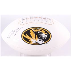Justin Smith Signed Missouri Tigers Logo Football (Radtke Hologram)