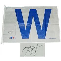 Kris Bryant Signed Chicago Cubs 27x37 White W Flag (Fanatics  MLB Hologram)