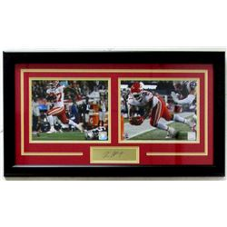 Kareem Hunt Chiefs 16x27 Custom Framed Photo with Laser Engraved Signature