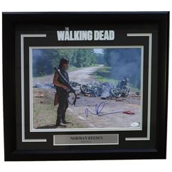 "Norman Reedus Signed ""The Walking Dead"" 11x14 Custom Framed Photo Display (JSA COA)"