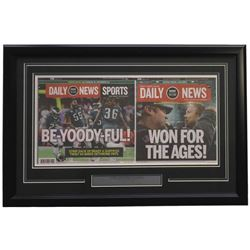 Philadelphia Eagles 18x28 Custom Framed Feb 5 2018 Super Bowl LII Champions Daily News Cover