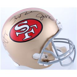 Joe Montana, Jerry Rice  Steve Young Signed 49er Full-Size Helmet (Radtke COA, Rice  Young Hologram)