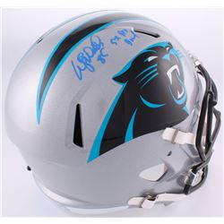 "Wesley Walls Signed Panthers Full-Size Helmet Inscribed ""5x Pro Bowl"" (Radtke COA)"