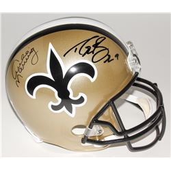 Drew Brees  Archie Manning Signed Saints Full-Size Helmet (Brees Hologram, Steiner COA,  Radtke COA)