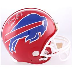 "Marv Levy Signed Bills Full-Size Authentic On-Field Helmet Inscribed ""HOF '01"" (Steiner COA)"