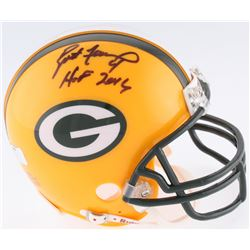 "Brett Favre Signed Packers Mini-Helmet Inscribed ""HOF 2016"" (Radtke Hologram)"