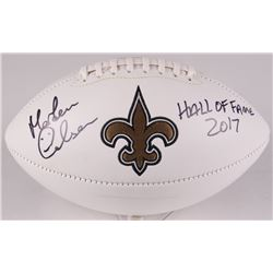 "Morten Andersen Signed Saints Logo Football Inscribed ""HALL OF FAME 2017"" (Radtke COA)"
