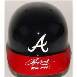 "Chipper Jones Signed Braves Authentic Full-Size Batting Helmet Inscribed ""99 NL MVP!"" (JSA Hologram)"