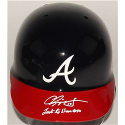 "Chipper Jones Signed Braves Authentic Full-Size Batting Helmet Inscribed ""Last to Wear #10"" (JSA COA"
