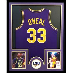 Shaquille O'Neal Signed LSU Tigers 34x42 Custom Framed Jersey (JSA COA)