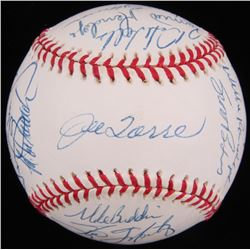 1998 New York Yankees OAL Baseball Team-Signed by (25) Including Derek Jeter, Jorge Posada, Mariano