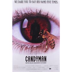 "Clive Barker Signed ""Candy Man"" 27x40 Movie Poster (Radtke Hologram)"