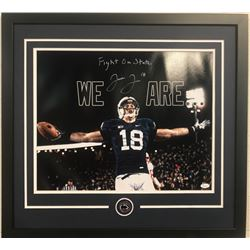 "Jesse James Signed Penn State Nittany Lions 23x29 Custom Framed Photo Display Inscribed ""Fight on St"