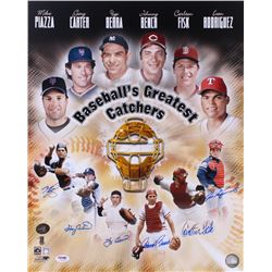 """""""Baseball's Greatest Catchers"""" 16x20 Photo Signed By (6) with Mike Piazza, Gary Carter, Yogi Berra,"""
