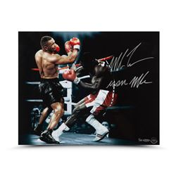 """Mike Tyson Signed 16x20 Photo Inscribed """"Iron Mike"""" (UDA)"""