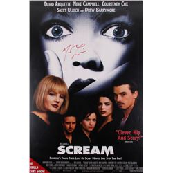 "Matthew Lillard Signed ""Scream"" 27x40 Movie Poster (Radtke COA)"