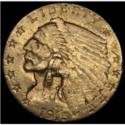 1915 $2.50 Indian Quarter Eagle Gold Coin