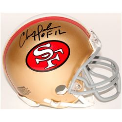 "Chris Doleman Signed 49ers Mini-Helmet Inscribed ""HOF 12"" (Radtke COA)"