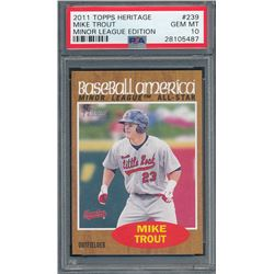 2011 Topps Heritage Minors #239 Mike Trout SP (PSA 10)