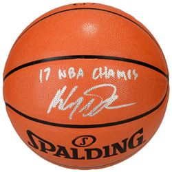 "Klay Thompson Signed Basketball Inscribed ""17 NBA Champs"" (Fanatics Hologram)"