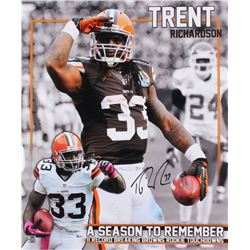 Trent Richardson Signed Browns 20x24 Photo (Richardson Hologram)