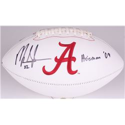 "Mark Ingram Signed Alabama Crimson Tide Logo Football Inscribed ""Heisman '09"" (Ingram Hologram)"