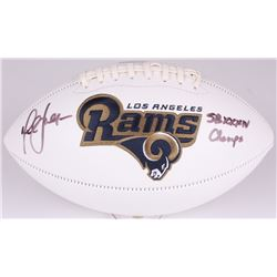 "Marshall Faulk Signed Rams Logo Football Inscribed ""SB XXXIV Champs"" (Radtke COA)"