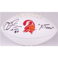 "Mike Alstott Signed Buccaneers Logo Football Inscribed ""A-TRAIN"" (Radtke COA)"