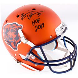 "Brian Urlacher Signed Bears Full-Size Helmet Inscribed ""HOF 2018"" (JSA COA)"