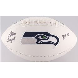 "Steve Largent Signed Seahawks Logo Football Inscribed ""HOF '95"" (Radtke Hologram)"