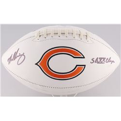 "Mike Singletary Signed Bears Logo Football Inscribed ""SB XX Champs"" (Radtke Hologram)"