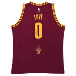 Kevin Love Signed 2016 NBA Champion Logo Cavaliers Jersey (UDA Hologram)