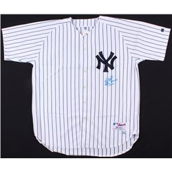 "Yogi Berra  Don Larsen Signed Yankees Jersey Inscribed ""10-8-56"" (Steiner COA  MLB Hologram)"
