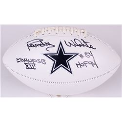 "Randy White Signed Cowboys Logo Football Inscribed ""Co MVP SB XII""  ""HOF 94"" (Radtke COA  JSA Hologr"