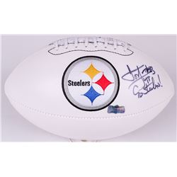 "Louis Lipps Signed Steelers Logo Football Inscribed ""Go Steelers!"" (Radtke COA)"