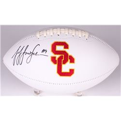JuJu Smith-Schuster Signed USC Trojans Logo Football (JSA COA)