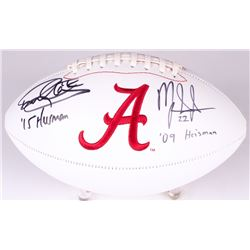 "Derrick Henry  Mark Ingram Signed University of Alabama Crimson Tide Logo Football Inscribed ""2015 H"