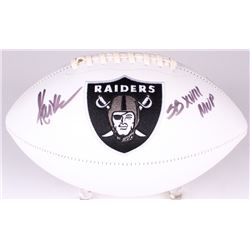 "Marcus Allen Signed Raiders Logo Football Inscribed ""SB XVIII MVP"" (Radtke COA  Allen Player Hologra"