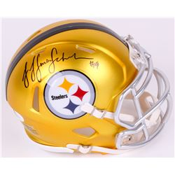 JuJu Smith-Schuster Signed Steelers Blaze Speed Mini Helmet (JSA COA)