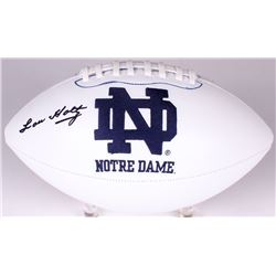 Lou Holtz Signed Notre Dame Fighting Irish Logo Football (Radtke COA)