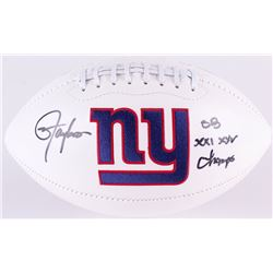 "Lawrence Taylor Signed Giants Logo Football Inscribed ""SB XXI XXV Champs"" (Radtke COA)"